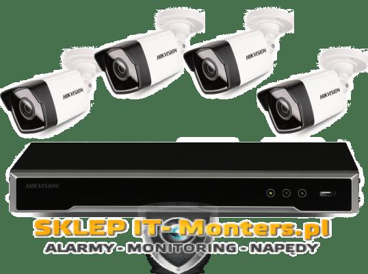 ZESTAW HIKVISION DS-7608NI-K2, DS-2CD1021-I (4 KAMERY IP)