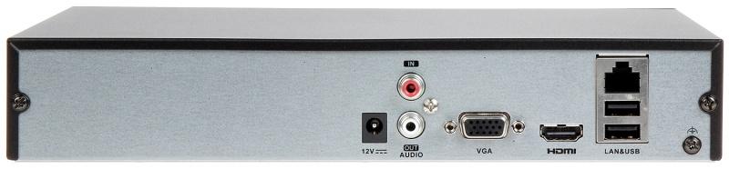 Rejestrator IP HIKVISION DS-7604NI-K1 tył