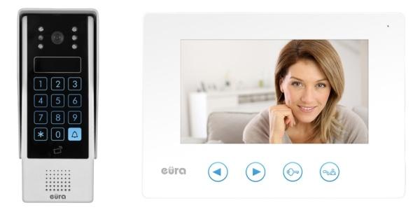 WIDEODOMOFON EURA VDP-10A3 JUPITER w kolorze białym